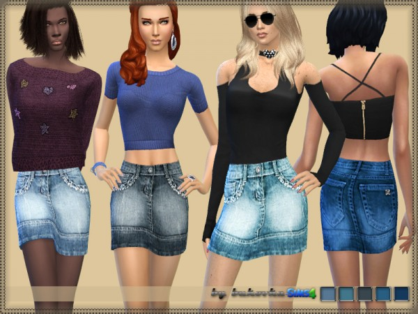 The Sims Resource: Skirt Denim by Bukovka