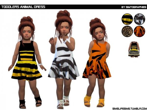 The Sims Resource: Toddlers Animal Dress by simtographies