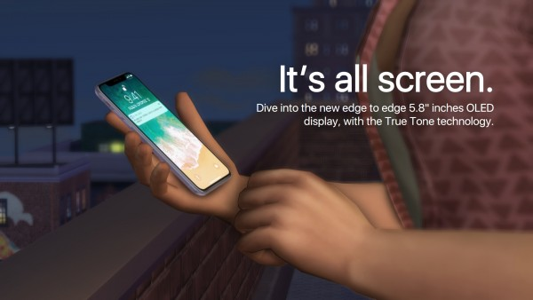 Mod The Sims: Apple iPhone X by littledica