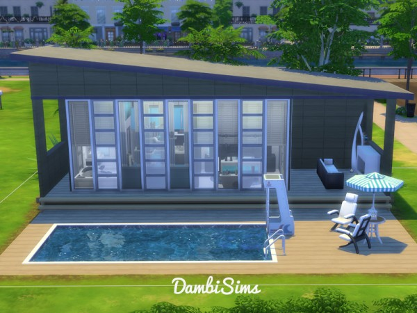The Sims Resource: Modern Tiny Villa by dambisims