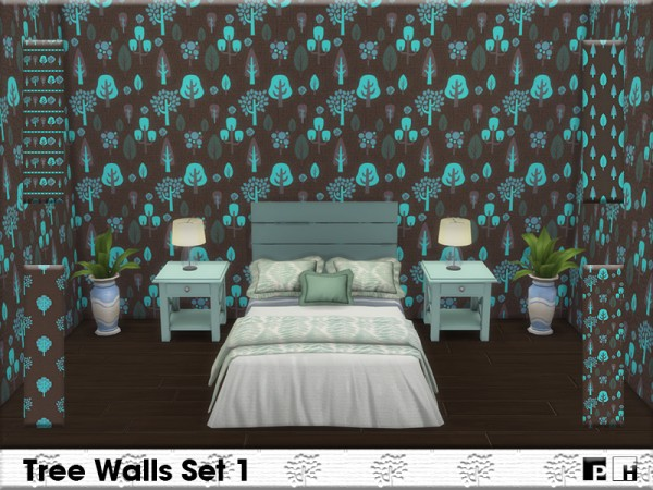 The Sims Resource: Tree Walls Set 1 by Pinkfizzzzz