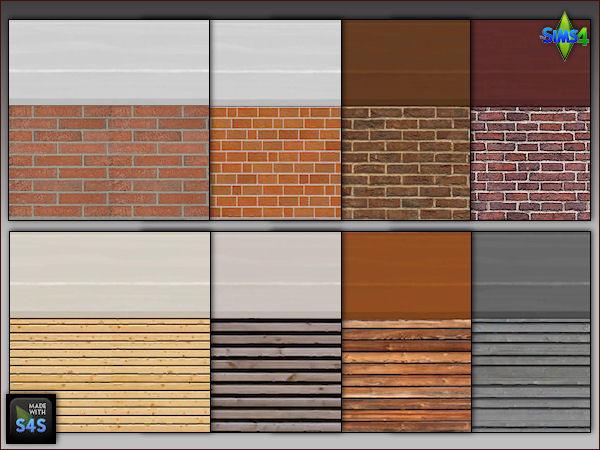 Arte Della Vita: 8 sets of house walls with foundations