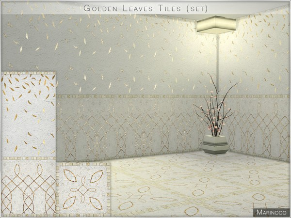 The Sims Resource: Golden Leaves Tiles by Marinoco
