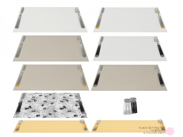 The Sims Resource: Place Setting Set by DOT