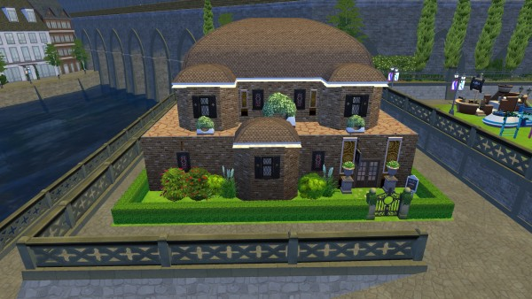 Mod The Sims: Traditional Pub (No CC) by Astonneil