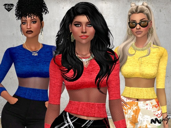 The Sims Resource: Tammys Mesh Top by MartyP