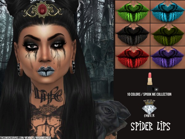 The Sims Resource: Spider Lipstick by MadameChvlr