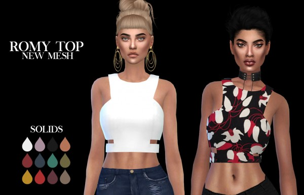 Leo 4 Sims: Romy top recolored