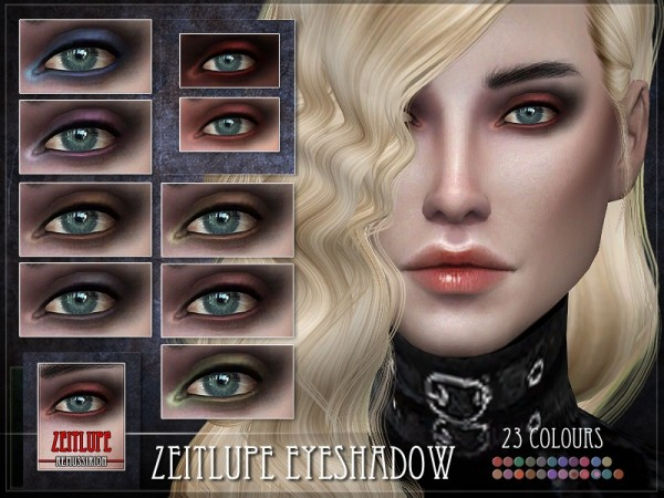 The Sims Resource: Zeitlupe Eyeshadow by RemusSirion