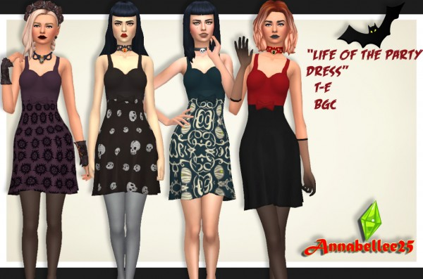 Simsworkshop: Life Of The Party Dress by Annabellee25