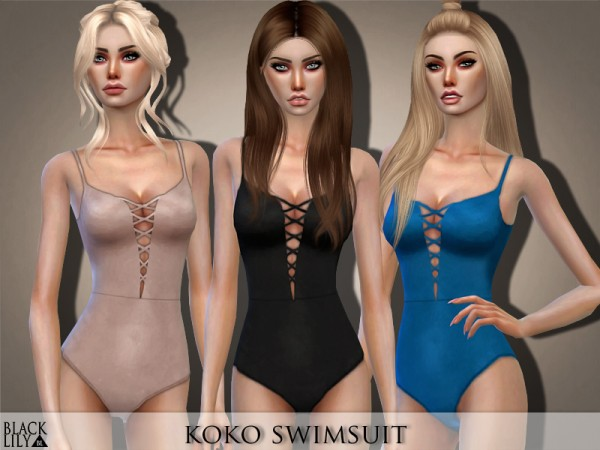 The Sims Resource: Koko Swimsuit by Black Lily