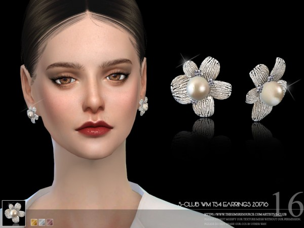 The Sims Resource: Earrings F 201716 by S club