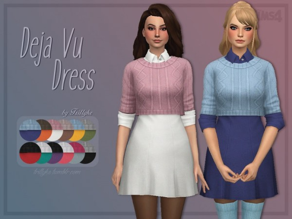The Sims Resource: Deja Vu Dress by Trillyke