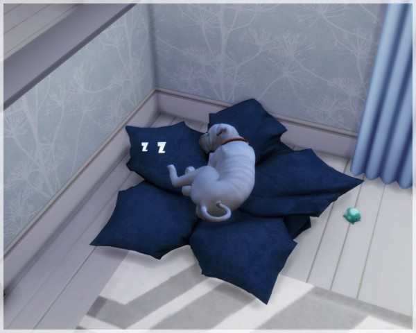 """Helen Sims: Pet Bed """"Maple Leaf"""" • Sims 4 Downloads"""
