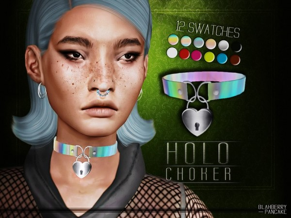 The Sims Resource: Holo Choker by Blahberry Pancake