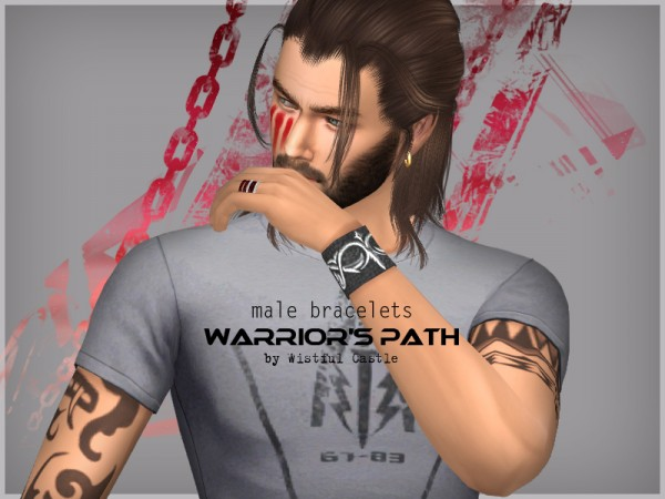 The Sims Resource: Warriors Path bracelets by WistfulCastle