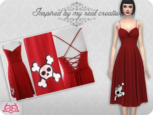 The Sims Resource: Claudia dress recolor 10 by Colores Urbanos