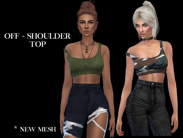 Leo 4 Sims: Off shoulder top recolored