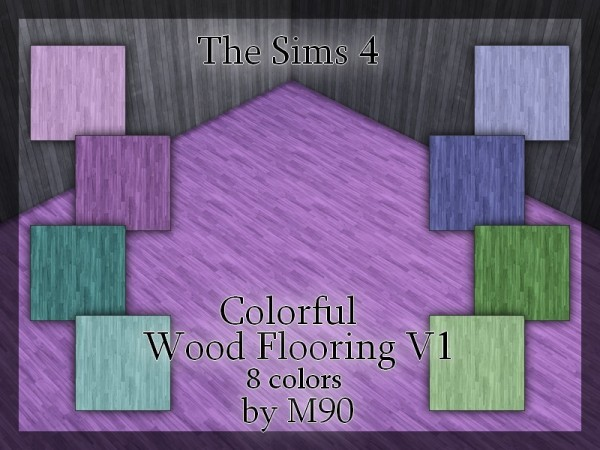 The Sims Resource: Colorful Wood Flooring v1 by Mircia90