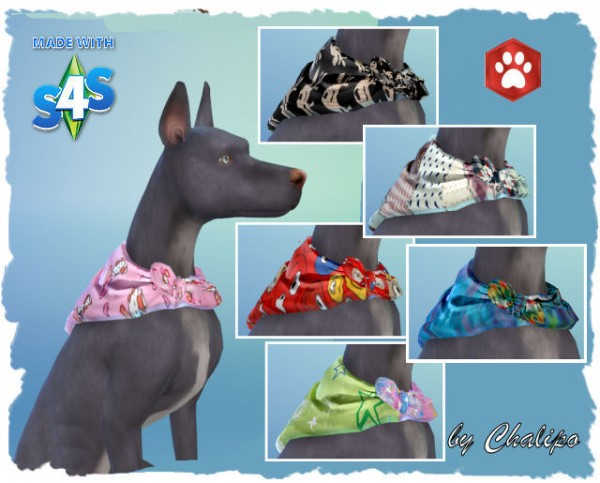 All4Sims: Dog Collar by  Chalipo