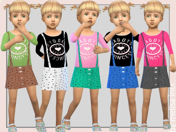 The Sims Resource: Salopette Dress by melisa inci