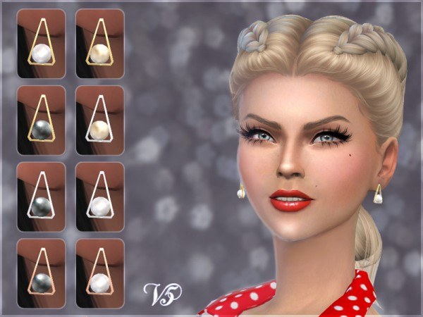 Giulietta Sims: Triangle Pearl Earrings V5