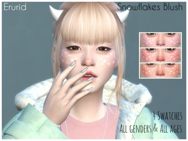 The Sims Resource: Snowflakes Blush by Erurid