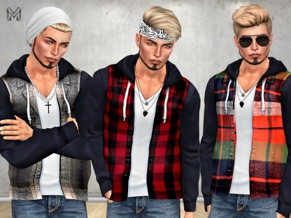 The Sims Resource: Male Casual Plaid Jacket by MartyP