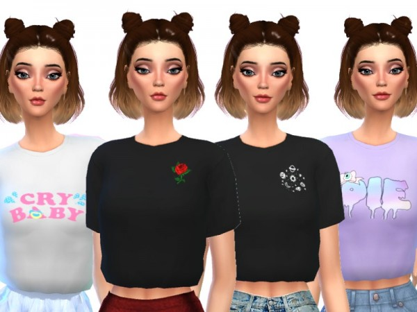 The Sims Resource: Trendy Cropped Tees by Wicked Kittie