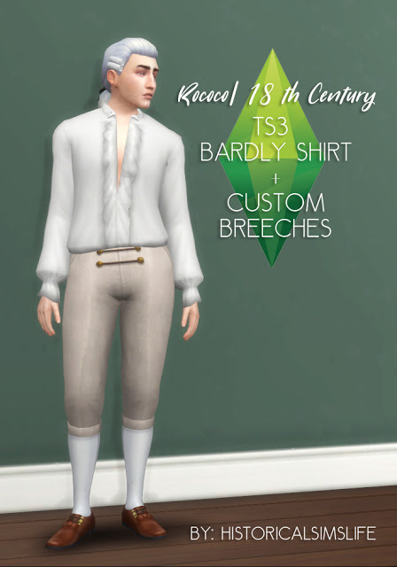 History Lovers Sims Blog: 18th century Rococo Bardly shirt
