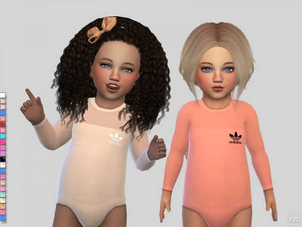 The Sims Resource: Toddler Sporty Bodysuit by Pinkzombiecupcakes