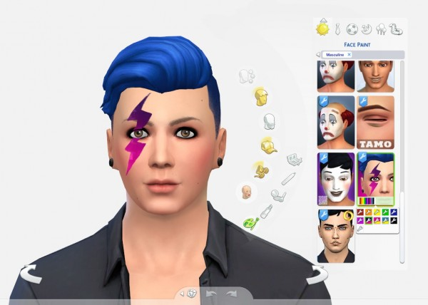 Mod The Sims: Thunder Facepaint Redux by Brainstrip