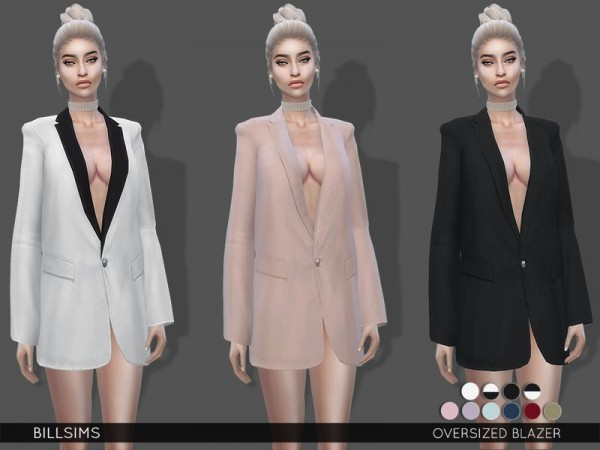 The Sims Resource: Oversized Blazer by Bill Sims