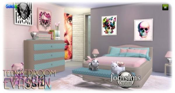 Jom Sims Creations: Evassen bedroom