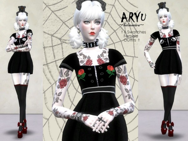 The Sims Resource: ARYU   Mini dress by Helsoseira