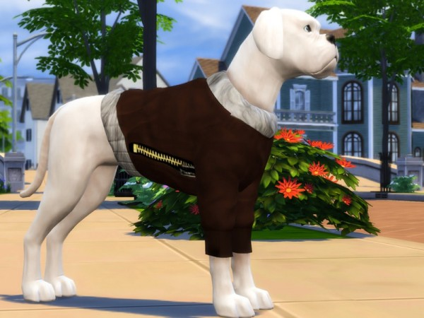 The Sims Resource: Large Dog Parka Coats by simmerkate
