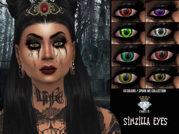 The Sims Resource: Simzilla Eyes by MadameChvlr