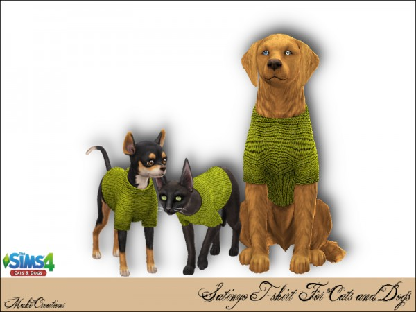 The Sims Resource: Satinyo Tshirt for Cats and Dogs by MahoCreations