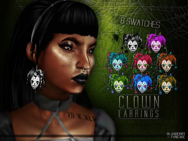The Sims Resource: Clown Earrings by Blahberry Pancake