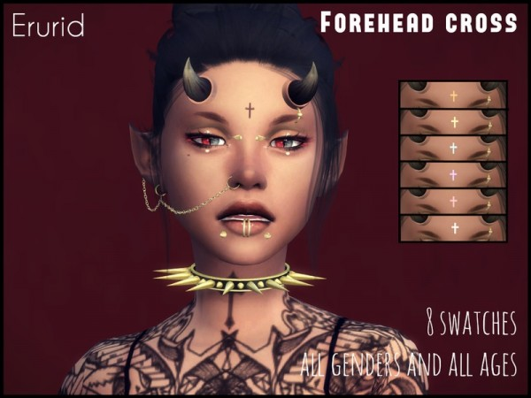 The Sims Resource: Forehead Cross by Erurid