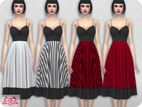 The Sims Resource: Claudia dress recolor 12 by Colores Urbanos