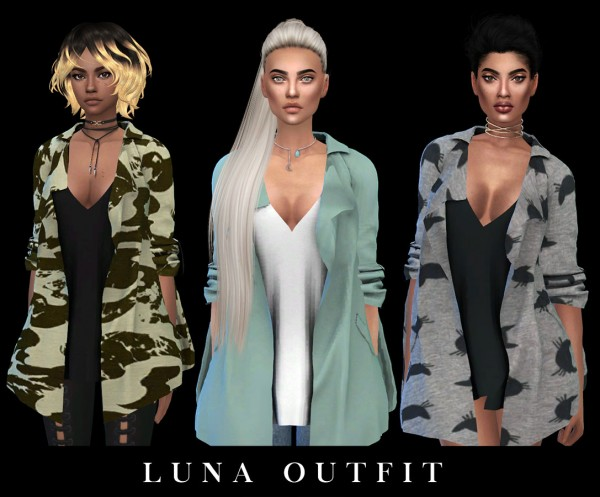 Leo 4 Sims: Luna outfit recolored