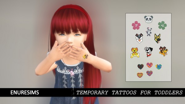 Enure Sims: Temporary Tattoos for Toddlers