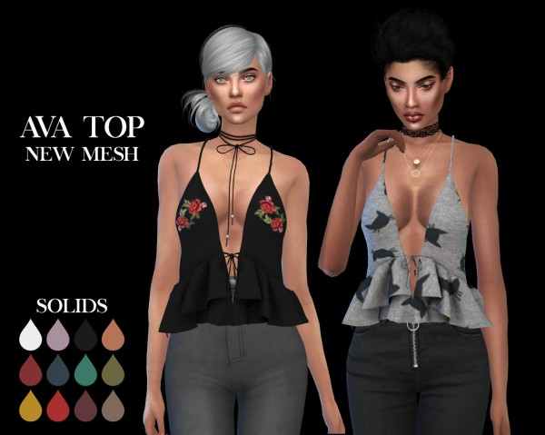 Leo 4 Sims: Ava top recolored