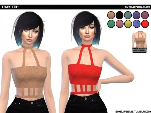 The Sims Resource: Thay Top by simtographies