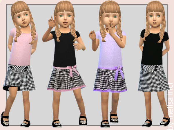 The Sims Resource: Toddler Pretty 2 in 1 Dress by melisa inci