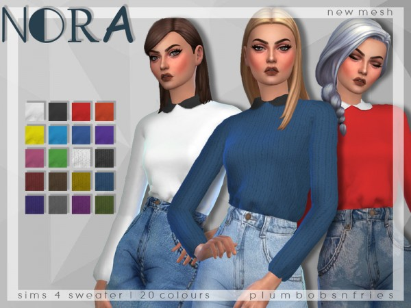 The Sims Resource: Nora sweater by Plumbobs n Fries