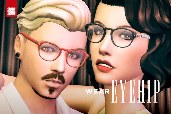 Mod The Sims: EyeHip   Hipster Eyeglasses by Brainstrip