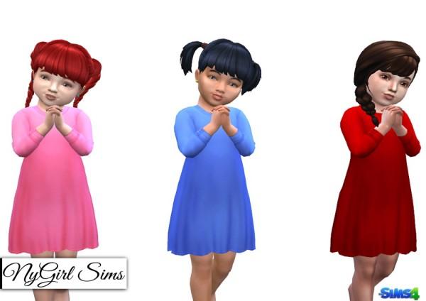 NY Girl Sims: Long Sleeve T Shirt Dress