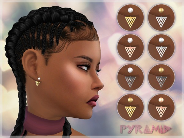 Giulietta Sims: Pyramid Earrings